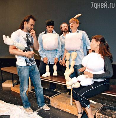 Авербух на репетиции в Театре имени Образцова