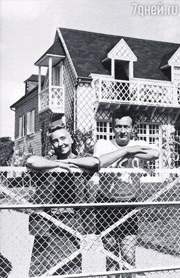 Мой дядя -- легендарный артист Жан Луи Барро, известный всем по фильму «Дети райка» (на фото: с женой. Нормандия, 1945 г.)