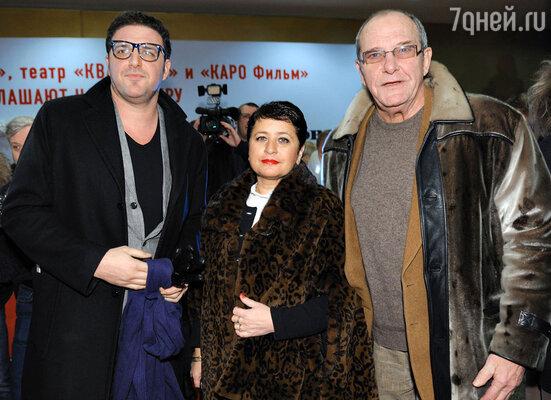 Эммануил Виторган с женой Ириной и сыном Максимом