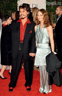 С Джонни Деппом нацеремонии вручения «Золотого глобуса». Беверли-Хиллз, 2006 г.