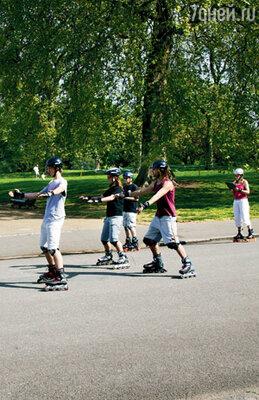 Парки устроены четко: велосипедам, лошадям и пешеходам — свои дорожки. Вот и на роликах можно кататься только на специальных трассах
