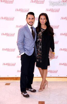 Тимур Родригес с супругой