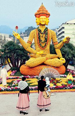 Лимонно-апельсиновое индийское божество...