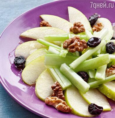 Салат с сельдереем, медом и грецкими орехами