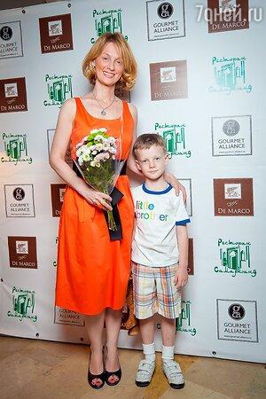 Юлия Ромашина с сыном