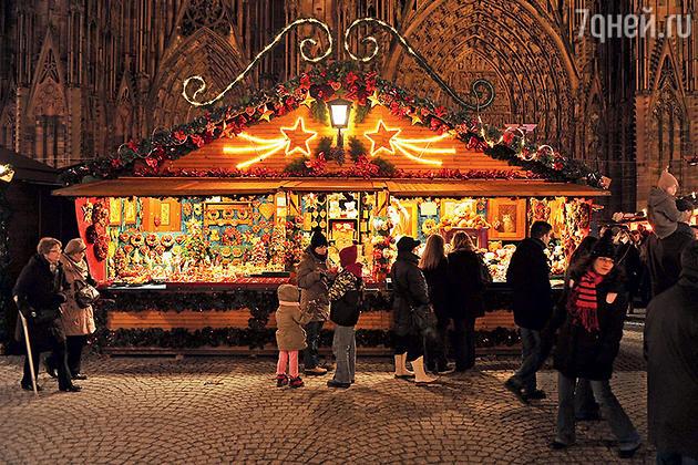 Базар рождественских игрушек  в Страсбурге
