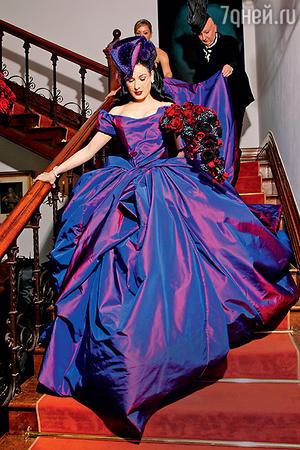 Дита фон Тиз выбрала для свадебного наряда довольно эксцентричный цвет