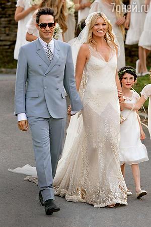 Кейт Мосс и Джейми Хинс. 2011 год