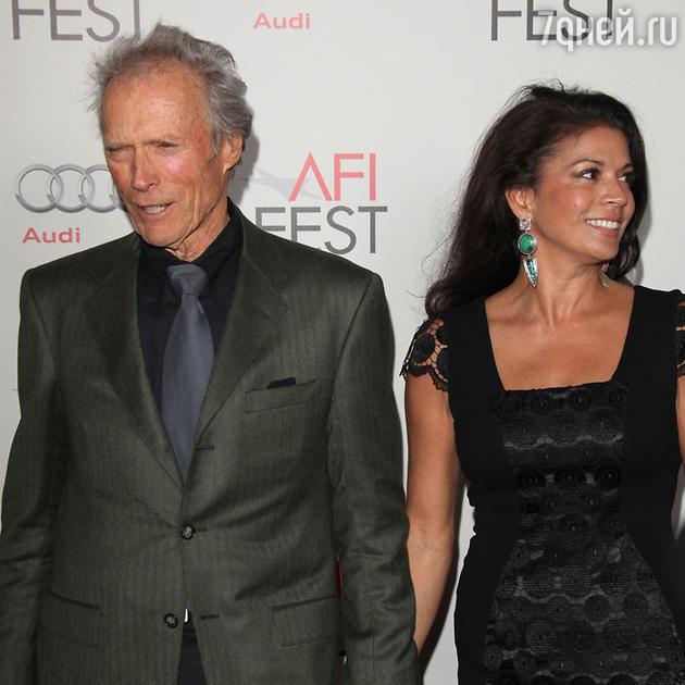 Клинт Иствуд и Дина Иствуд