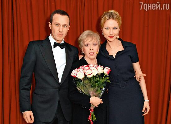 Участники благотворительного концерта: Игорь Верник, Алиса Фрейндлих и Мария Миронова