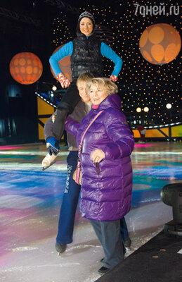 Во время репетиции нового ледового шоу «Снежная королева»