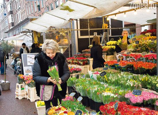 За два часа Татьяна Анатольевна обошла практически все лавки центрального рынка Амстердама. И его цветочные ряды...