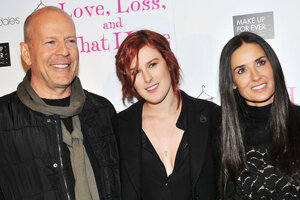 Брюс Уиллис и Деми Мур пришли на телешоу, чтобы поддержать дочь