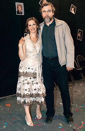 Режиссер Андрей Эшпай полагает, что самые яркие актрисы собраны в его доме. С супругой Евгенией Симоновой