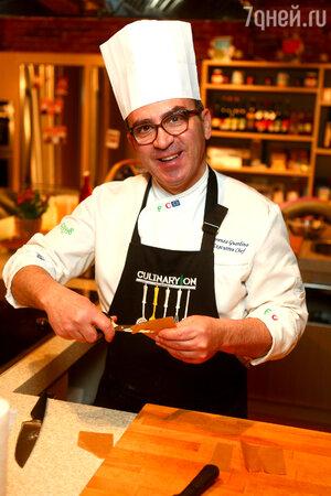 Шеф-повар кулинарной студии CulinaryOn Лоренцо Гуардино