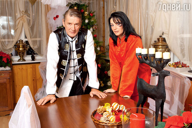 Александр Абдулов с женой Юлиией