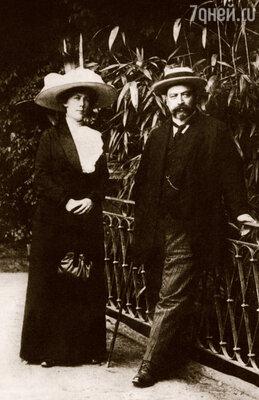 Николай Варенцов с женой на курорте Виши во Франции, 1911 г.