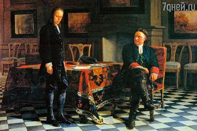 Петр I и царевич Алексей