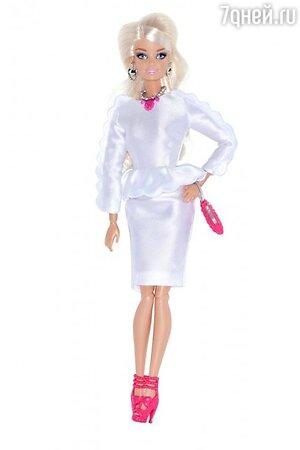 Кукла Барби в наряде от Tzipporah by Natasha Goldenberg