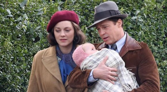 Марион Котийяр и Брэд Питт показали своего ребенка в кино
