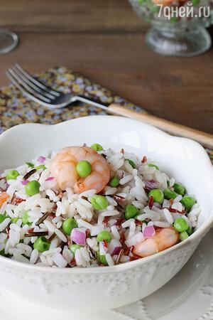 Салат с треской и креветками