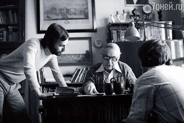 Дмитрий Светозаров с братом и отцом Иосифом Хейфицем