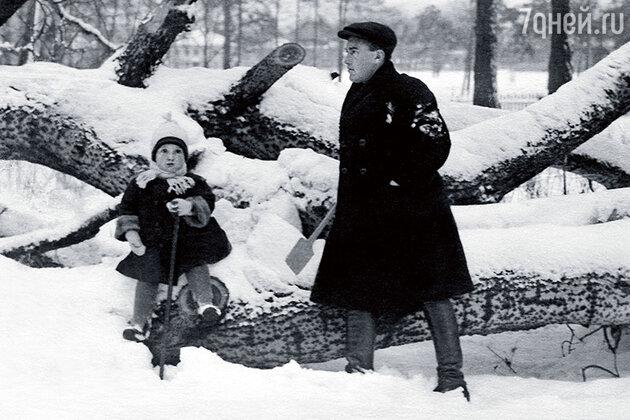 Яков Весник с сыном
