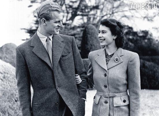 Принцесса Елизавета и принц Филипп во время медового месяца