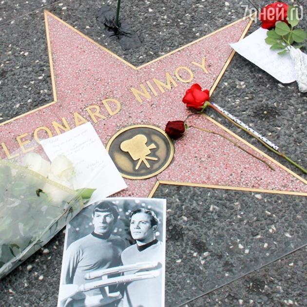 Звезда Леонарда Нимого на Голливудской аллее славы