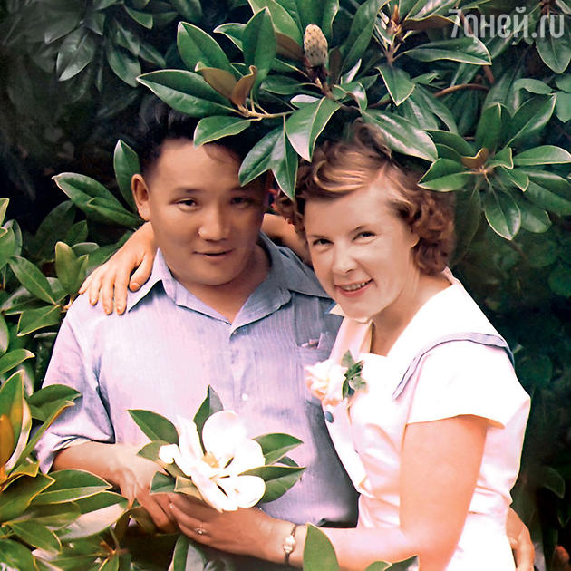 Юмжагийн Цеденбал и Анастасия Филатова