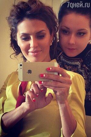 Викторитя Боня с подругой
