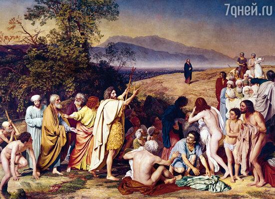 «Явление Христа народу» (картина Иванова), Гоголь справа, в красном плаще, последний в веренице паломников