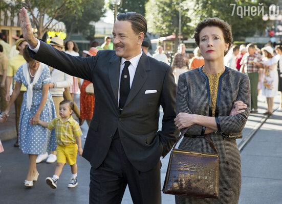 С Эммой Томпсон в новом фильме «Спасти мистера Бэнкса». 2013 г.