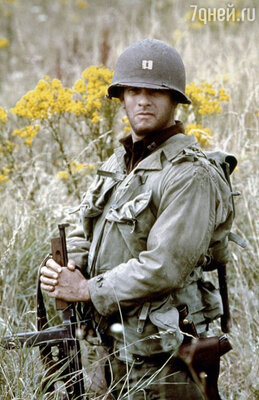 Хэнкс в ленте Стивена Спилберга «Спасти рядового Райана». 1998 год