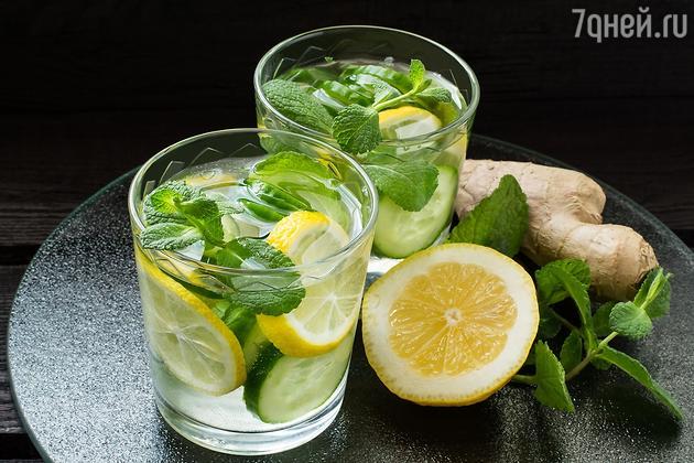 Коктейль из ибмиря, лимона и огурца от Регины Тодоренко