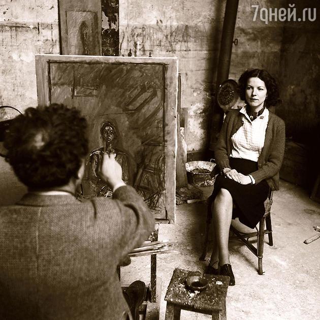 Альберто Джакометти и его женп Аннетт