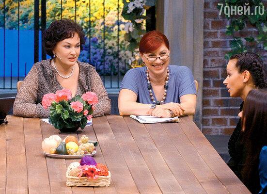 С Ларисой Гузеевой на съемках телешоу «Давай поженимся!»