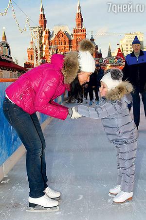 Екатерина Волкова с дочкой Лизой