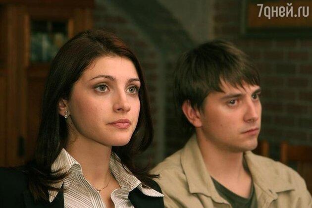 Анастасия Макеева и Петр Кислов в  сериале «Сеть»