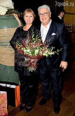 Владимир Винокур с женой Тамарой