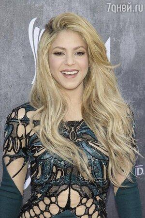 Шакира на музыкальной церемонии в Лас-Вегасе