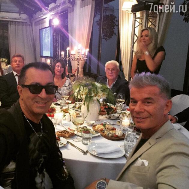 Александр Буйнов, Лев Лещенкос супругой, Владимир Винокур и Олег Газманов