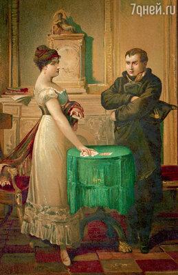 Наполеон нередко прибегал к услугам Ленорман. Но когда она предсказала поражение французской армии ввойне с Россией, онприказал выгнать ееиз страны