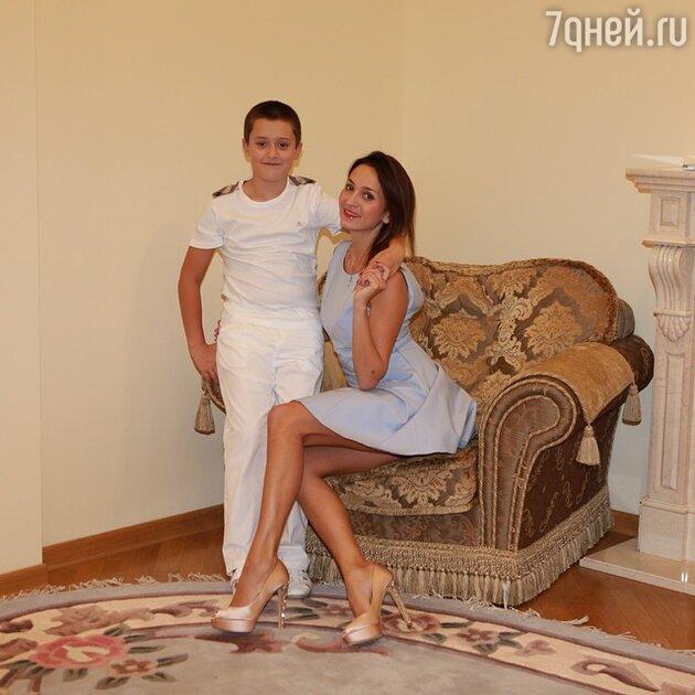 София Кальчева с сыном Богданом