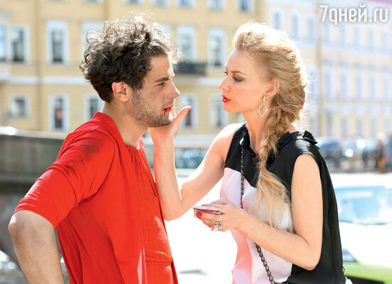 Светлана Ходченкова и Дмитрий Ендальцев на съемках картины «Гороскоп на удачу»