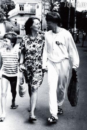 Наталья Пьянкова с мужем и сыном