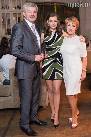Катерина Шпица с родителями