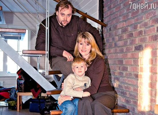 Светлана Журова с мужем Артемием и сыном Ярославом