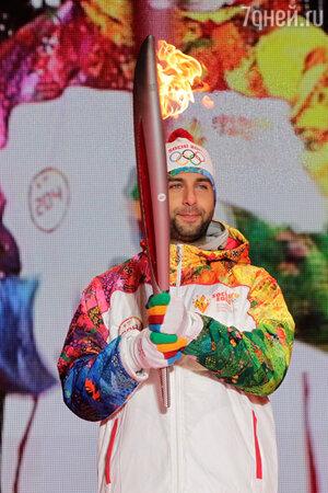 Иван Ургант на эстафете Олимпийского огня