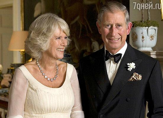 Герцогиня Корнуольская Камилла с мужем принцем Чарльзом